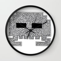 celtic Wall Clocks featuring Celtic Invader by ronnie mcneil