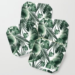 Tropical Jungle Leaves Dream #7 #tropical #decor #art #society6 Coaster