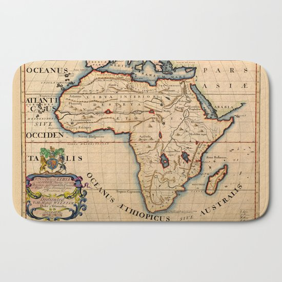 Map Of Africa 1700.Map Of Africa 1700 Bath Mat