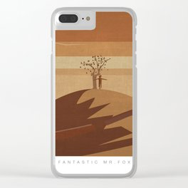 Minimalist Fantastic Mr.Fox Clear iPhone Case