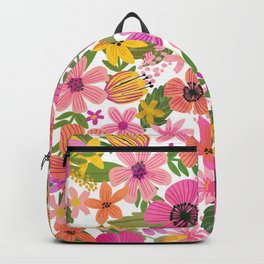 Hello floral typography Backpack