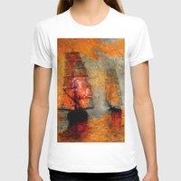 boats T-shirts featuring melancholic boats by Ganech joe