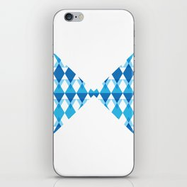 A blue bow tie iPhone Skin