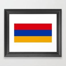 Flag Of Armenia Framed Art Print
