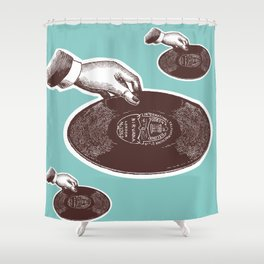 VINYL JUNKIE Shower Curtain