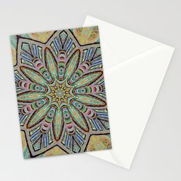 Stained Glass Window - Mandala Art Stationery Cards