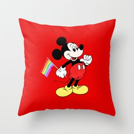 Mickey Mouse - Gay Pride - Gay Days - Pop Art Throw Pillow