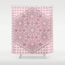 Six Knots Pale Pink Shower Curtain