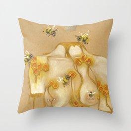 Honey Queen Throw Pillow