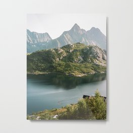 35mm Kayaking in Lofoten Metal Print