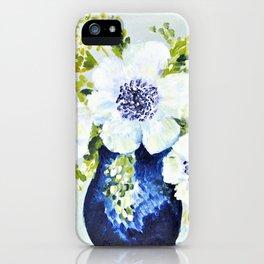 Anemones in vase iPhone Case