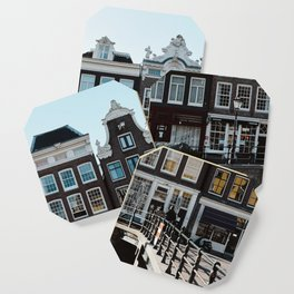 Amsterdam architecture | Travel photography | Buildings and the canals | The Netherlands | Art Print Coaster