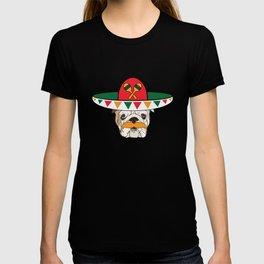 Cinco De Mayo Bulldog With Sombrero Mustache Funny T-shirt