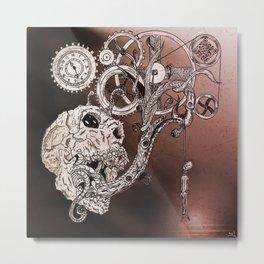 Skull#yaz Metal Print