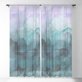 Dream away abstract watercolor Sheer Curtain