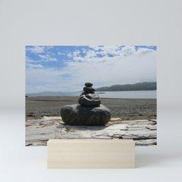 Finding Balance at the Beach Mini Art Print