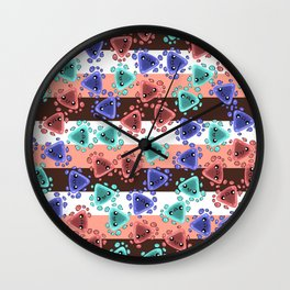 Ameba Blobs - Colorful Putty Wall Clock