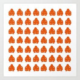 Persimmon Moods Buddha Boys Art Print