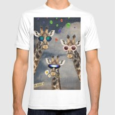 Animal Collection -- Let's Take  A Selfie White Mens Fitted Tee MEDIUM