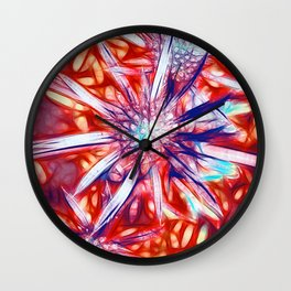 Star Bright in Red Wall Clock