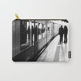 S-Bahn Berlin black and white photo Carry-All Pouch