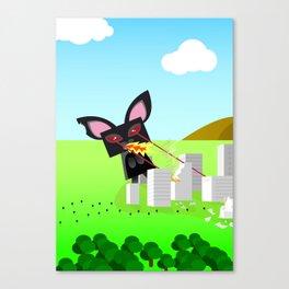 Kitty Destruction Limited Canvas Print