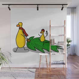 Christmas Tree Coming Home | Veronica Nagorny Wall Mural