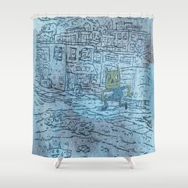 Run With Shower Curtain