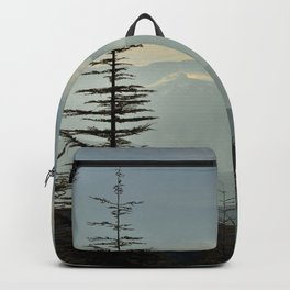 Rainbow clouds at the mountains at sunrise Backpack