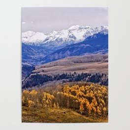 Mountain majesty and autumn gold Poster