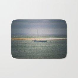Blue Sail Boat Bath Mat