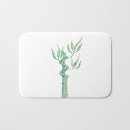 Green bamboo watercolor Bath Mat