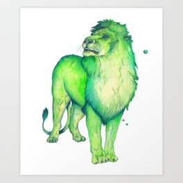 Green Lion Art Print
