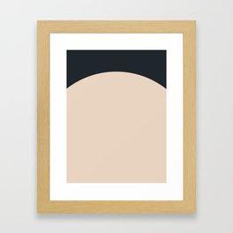 Mid Century Geometric E Framed Art Print
