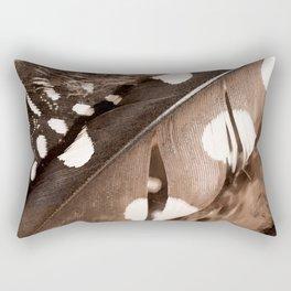 Beautiful Feathers On A Dark Brown Background #decor #buyart #society6 Rectangular Pillow