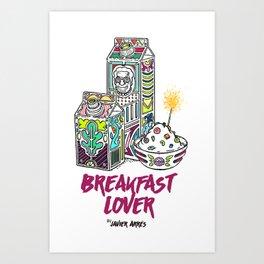 Breakfast Lover Art Print