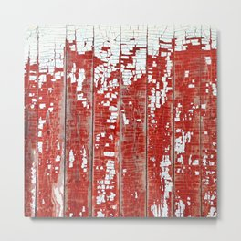 Chippy White Paint on a Red Barn Metal Print