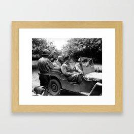 General Eisenhower In A Jeep Framed Art Print