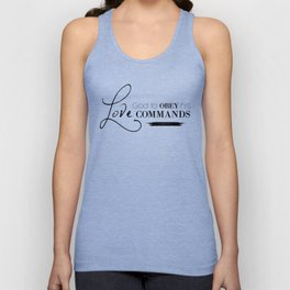 1John 5:3 For our love for God means that we obey his commands.Christian Bible Verse Unisex Tank Top