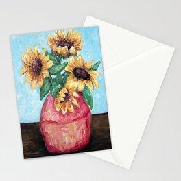 Sunflower Vase Stationery Cards