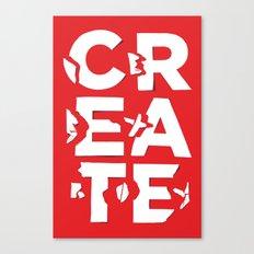 create/destroy Canvas Print