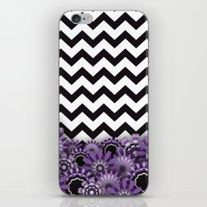Purple Flower Chevron iPhone & iPod Skin