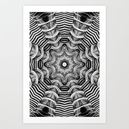 Black-and-White Abstract 20 Art Print