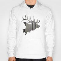 elk Hoodies featuring Elk by Jeffrey Derrick