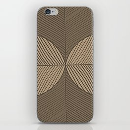 Minimal Tropical Leaves Pastel Beige iPhone Skin