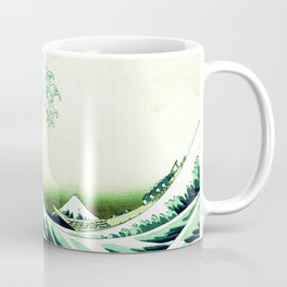 The Great Wave Green Coffee Mug