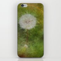 hot fuzz iPhone & iPod Skins featuring Dandelion Fuzz by Spoken in Red
