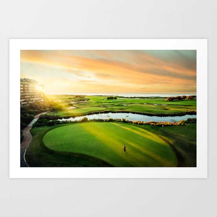Golfing the Gong AE Art Print