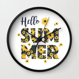 Sunflower poster Wall Clock
