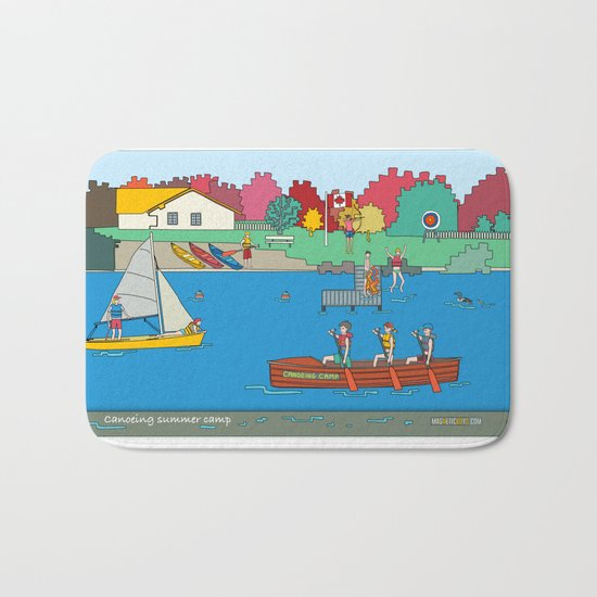 Canoeing Summer Camp Bath Mat